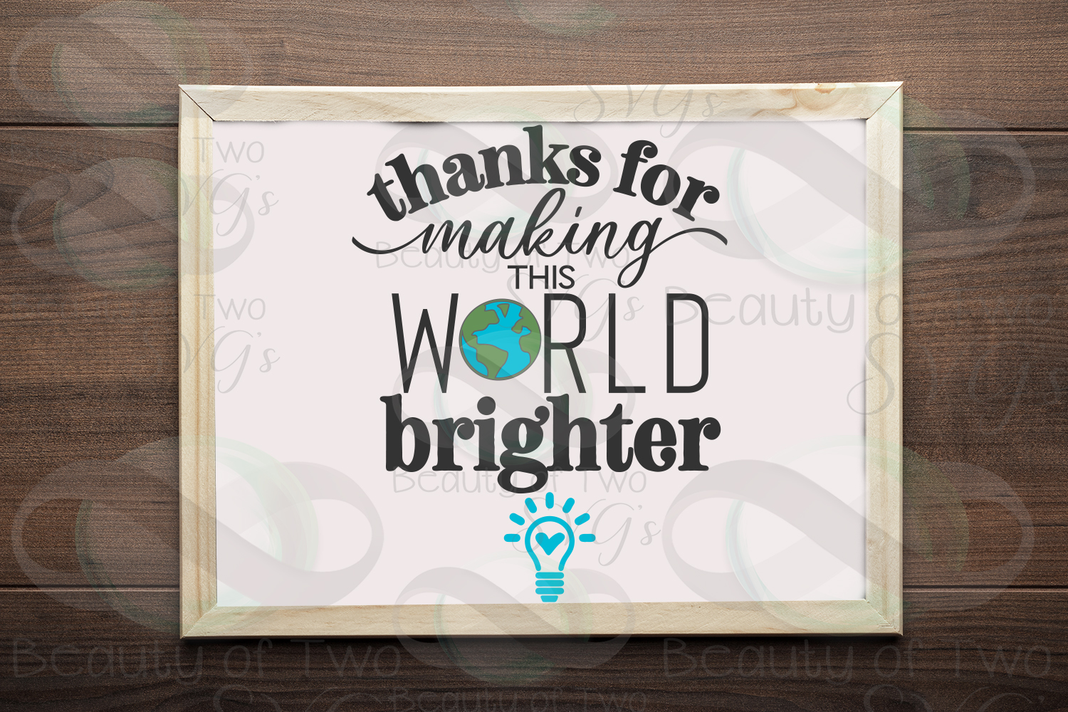 Teacher gift svg, Making the world brighter svg & png, teach example image 1