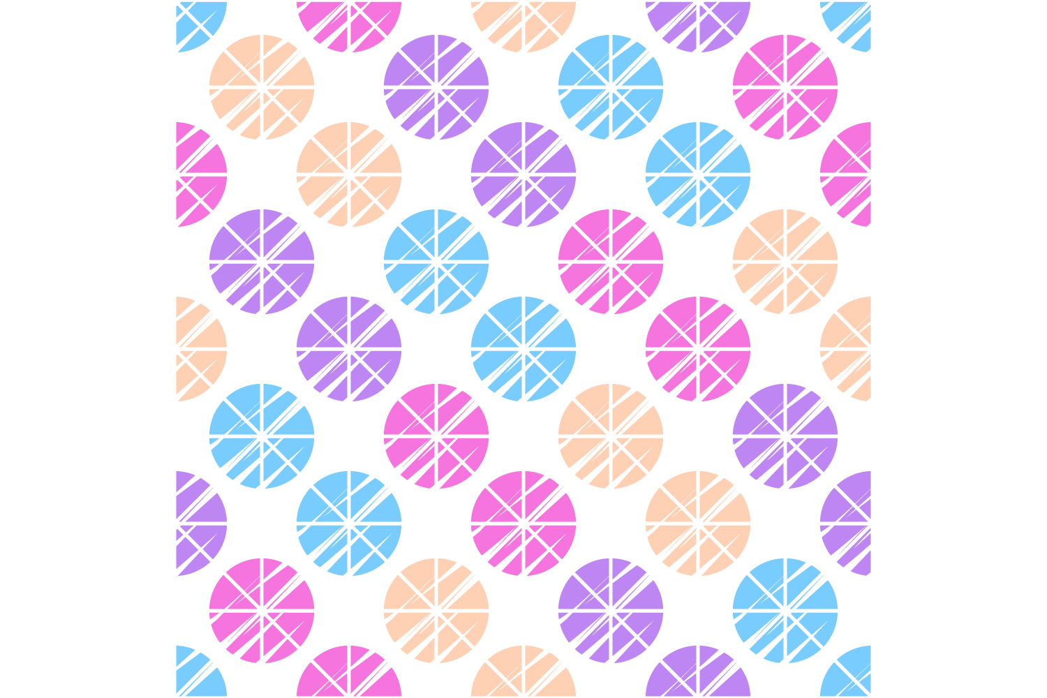 Polka dot ethnic ornament. Set of 10 seamless patterns. example image 1