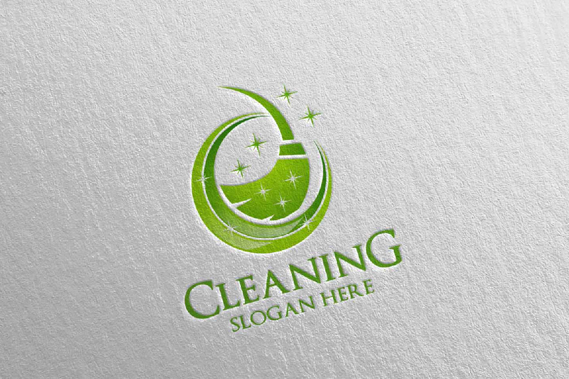 Cleaning Service Vector Logo example image 4
