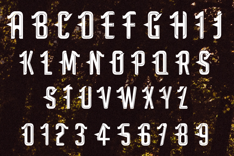 Satan - Modern Tattoo Font  example image 2