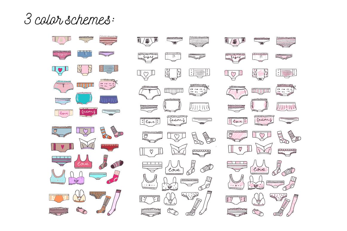 Doodled lingerie set example image 2