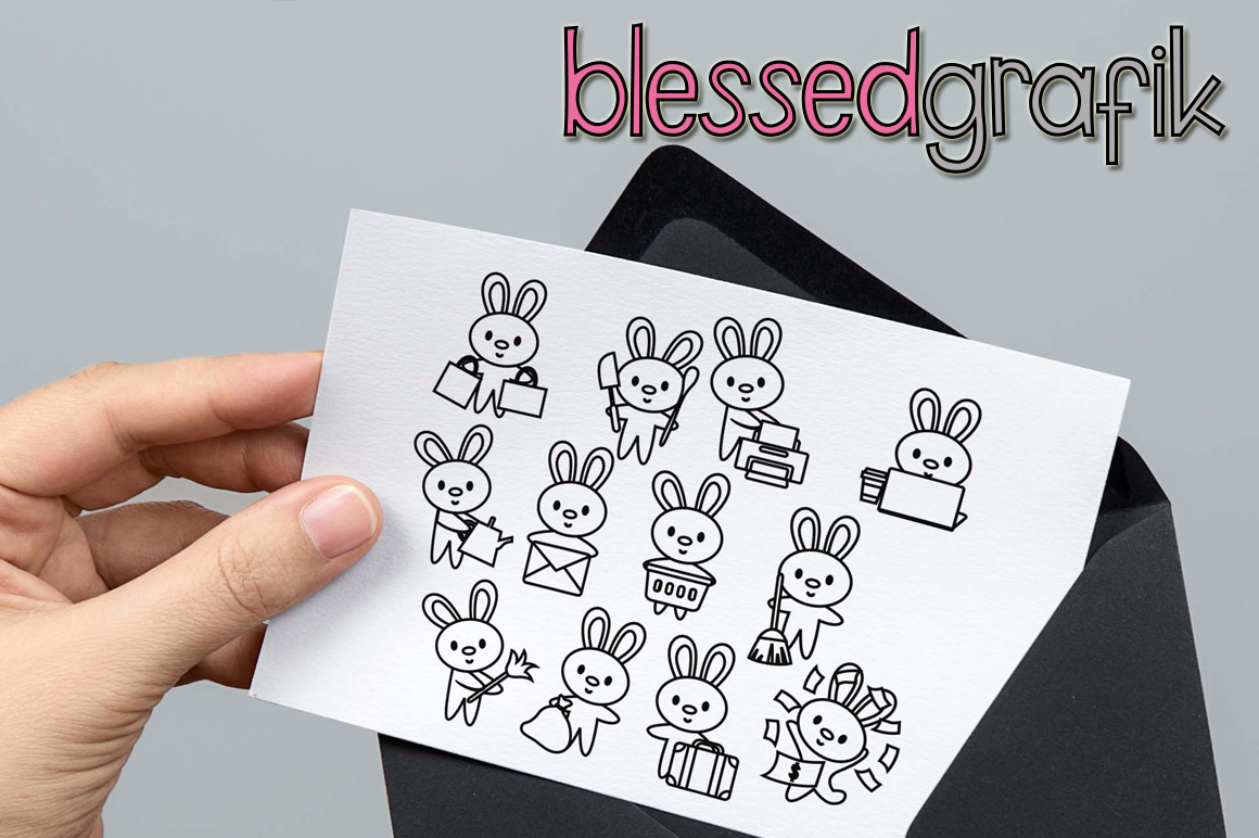 Chores Bundle - Animals characters clip art illustrations example image 10