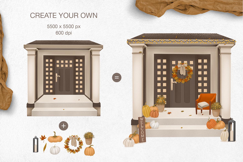 Cozy autumn clipart example image 10