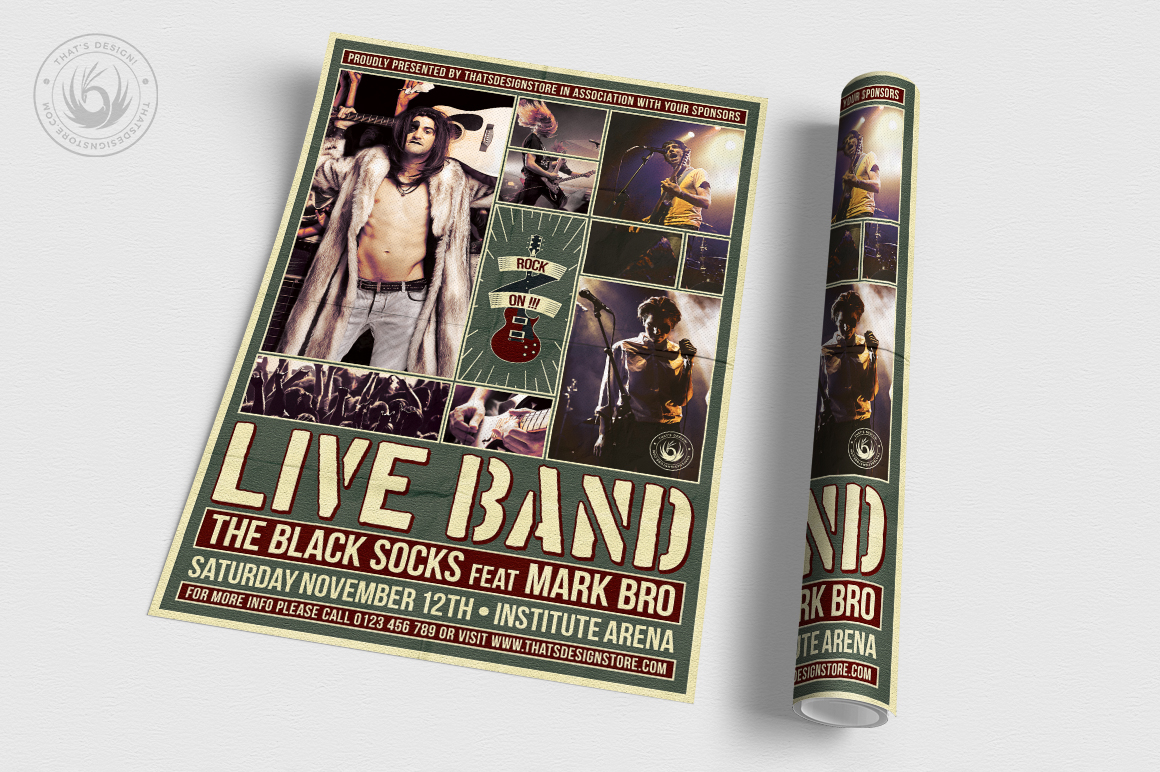 Live Concert Flyer Template V6 example image 3