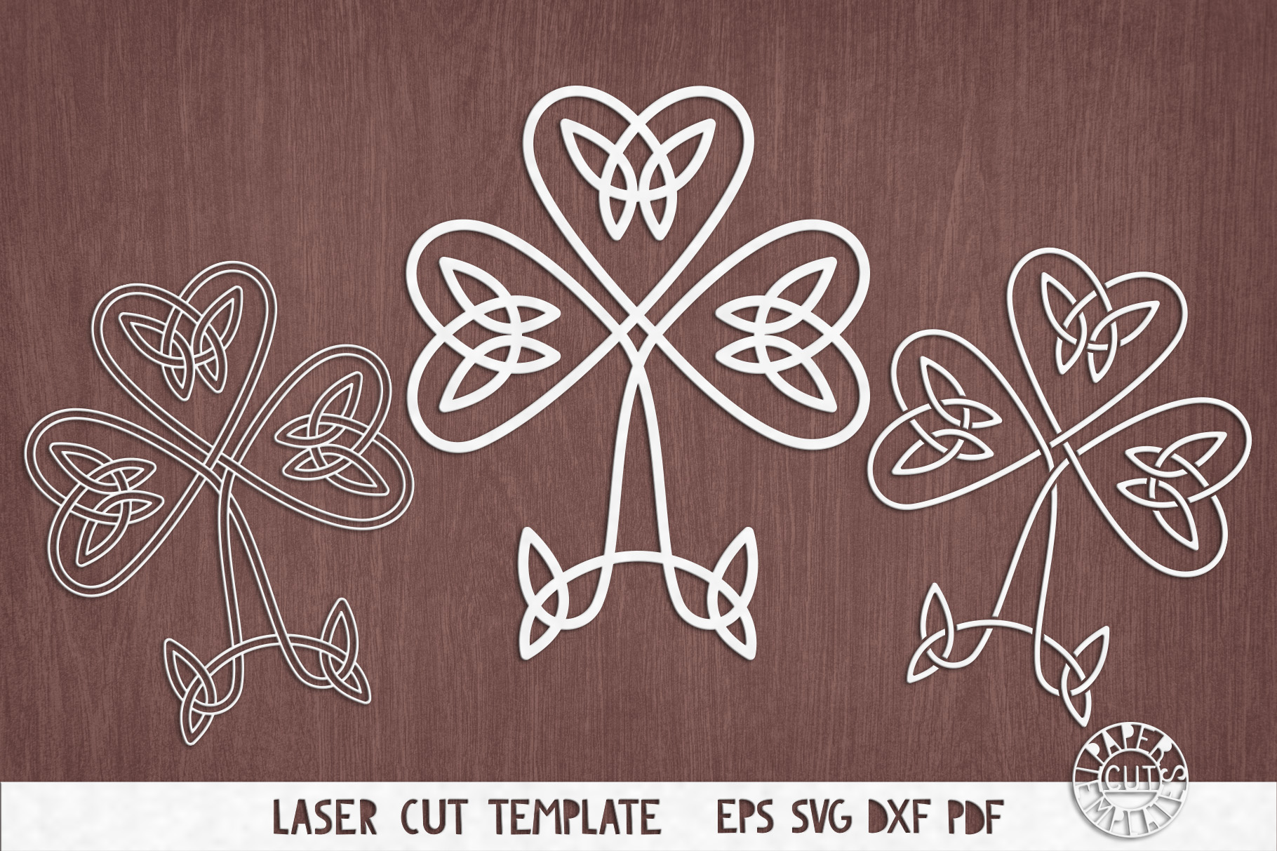 Download Svg Shamrock Celtic Knot Clover Cut File For Cricut Laser