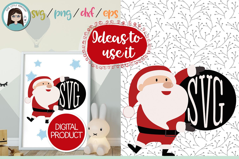 Santa Claus Monogram svg, dxf, png, eps example image 1