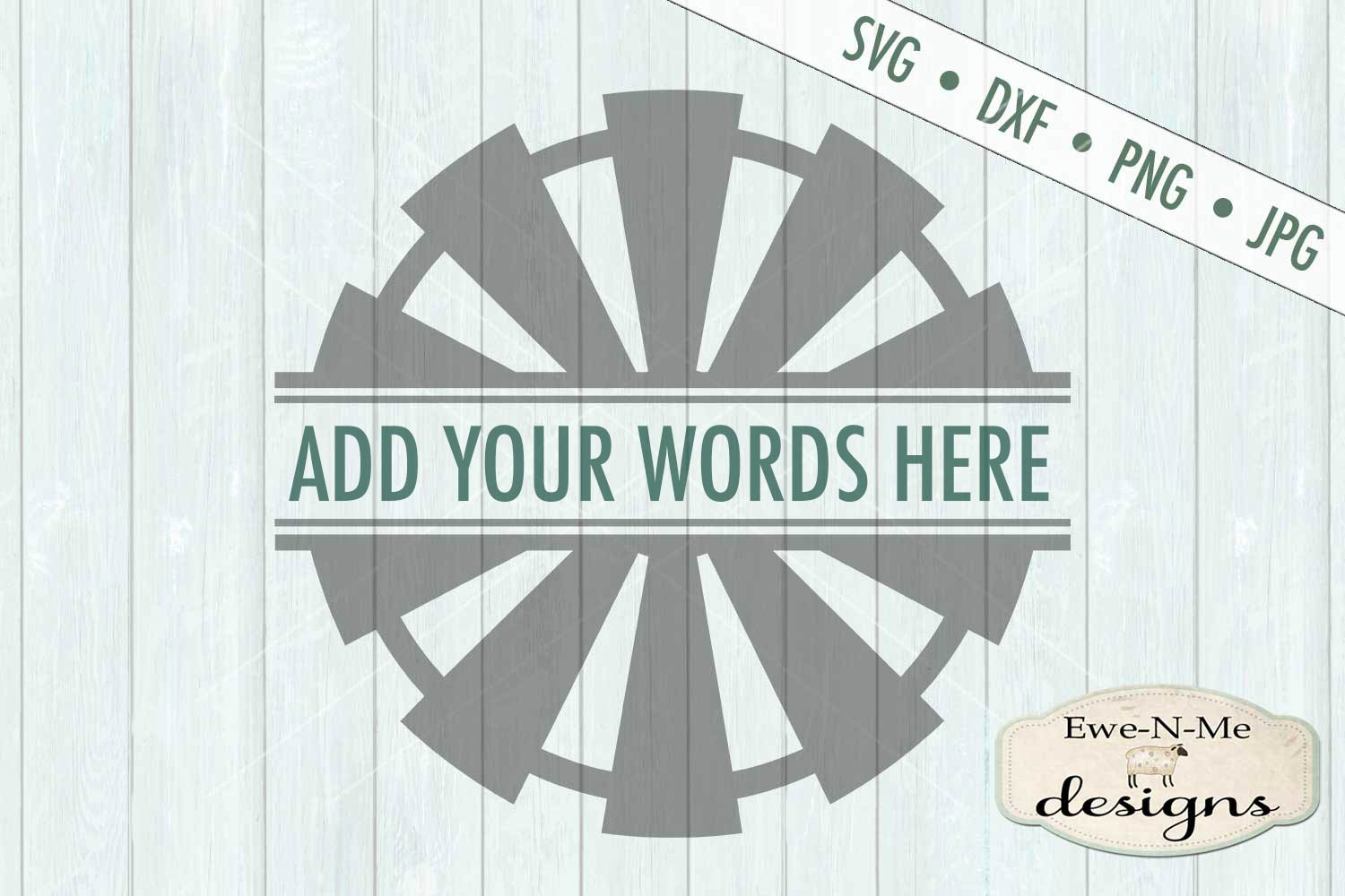 Split Windmill - Add Your Name - Farm Rustic - SVG example image 2