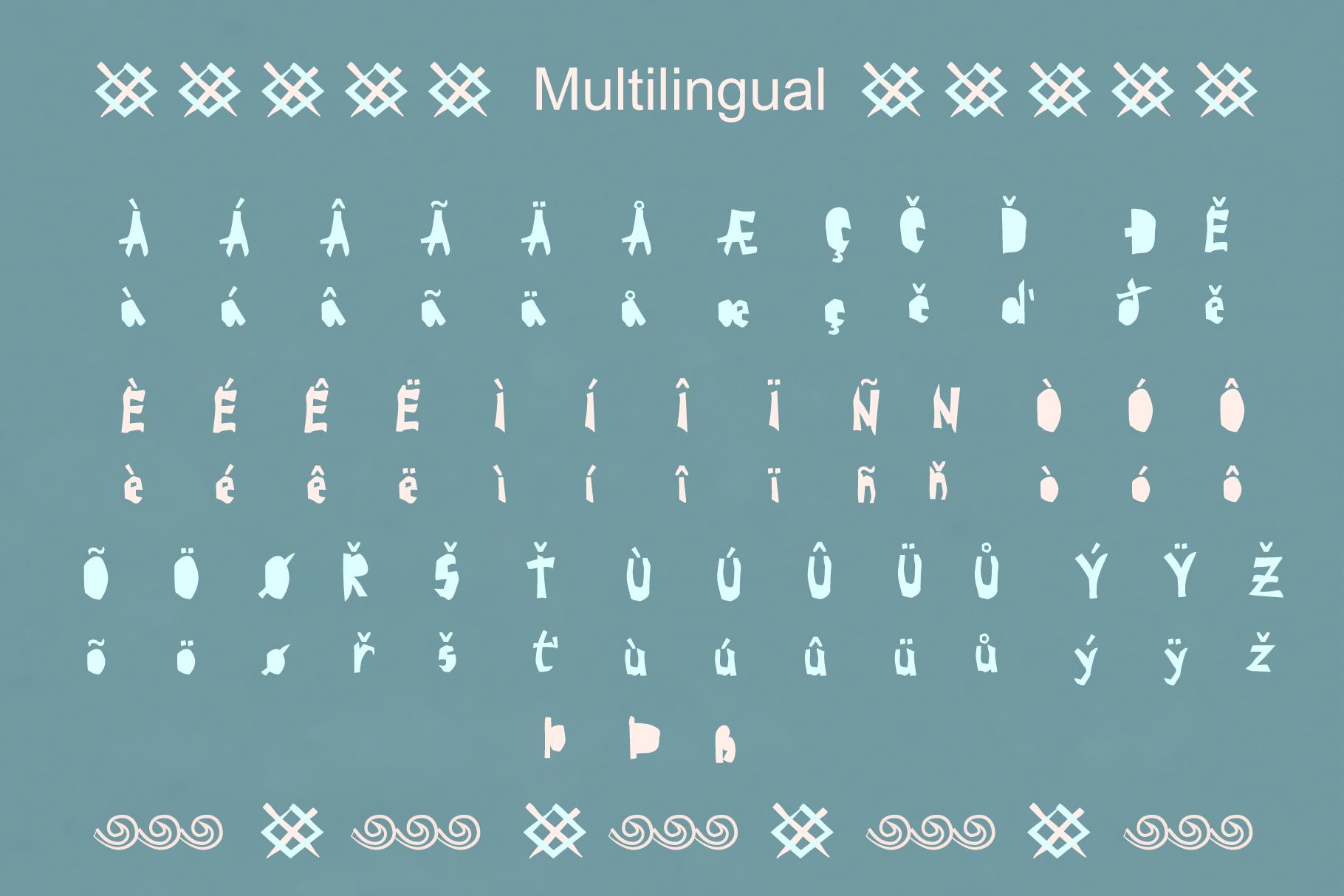 BRAVE-VIKING OTF font example image 3
