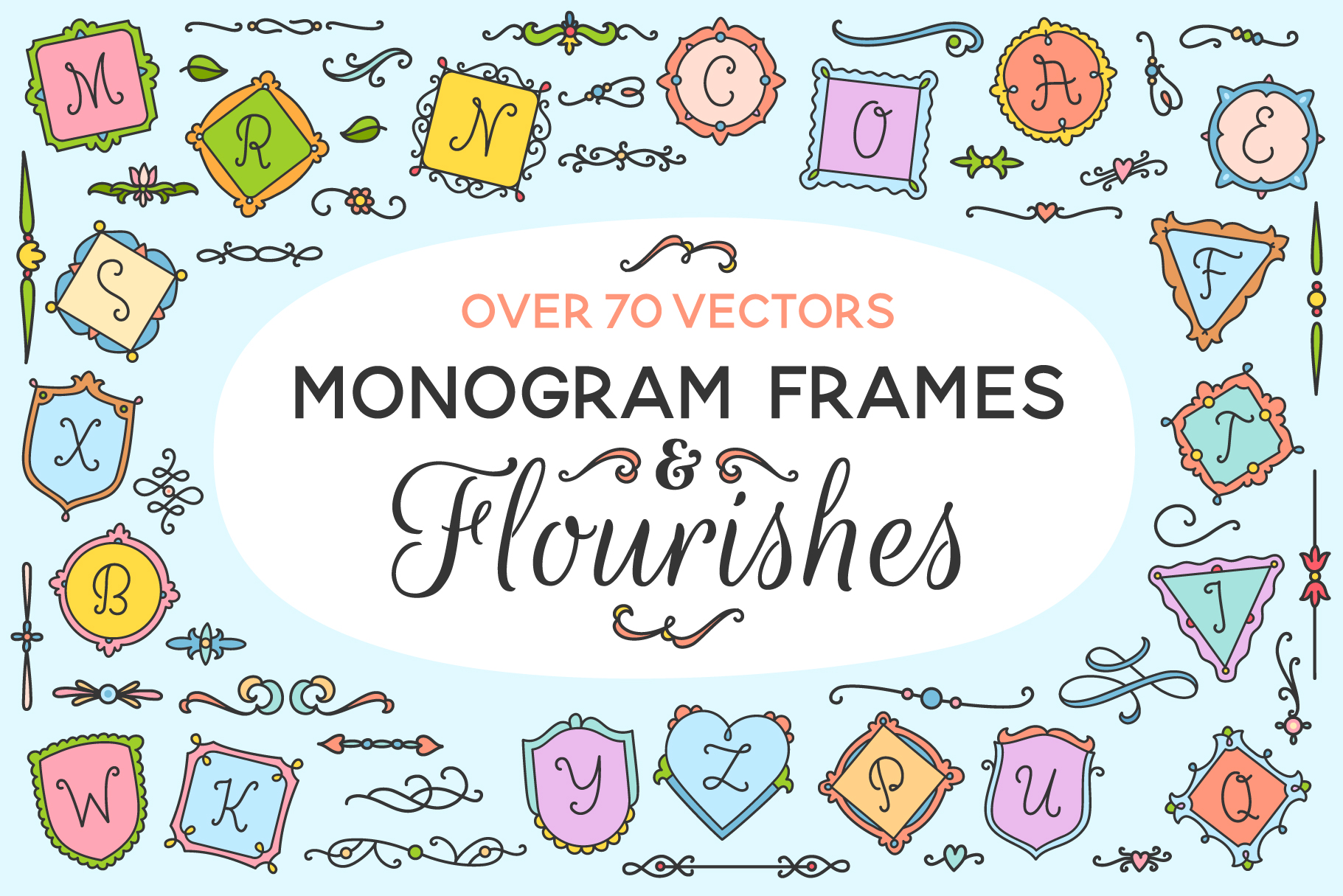 Monogram Frames & Flourishes  example image 1