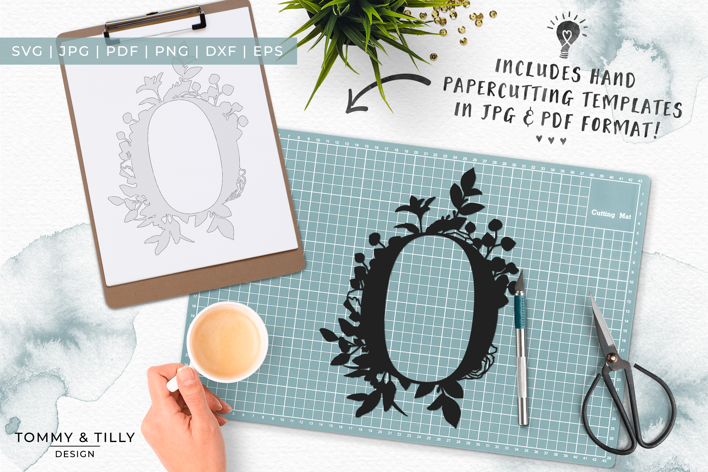 O Bouquet Letter Design - Paper Cut SVG EPS DXF PNG PDF JPG example image 6