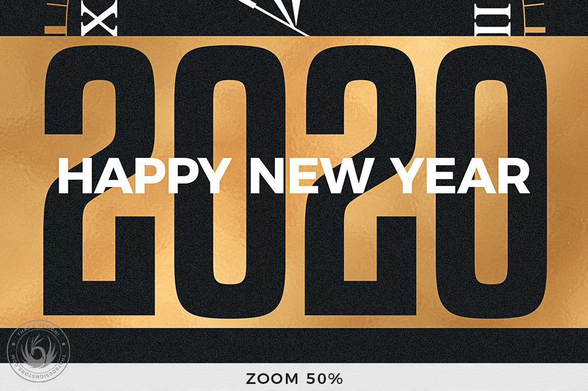 New Year Flyer Template V10 example image 7