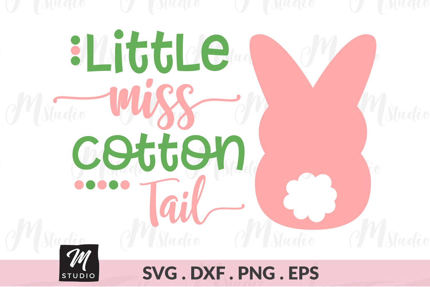 Little Miss Cotton Tail svg. example image 1