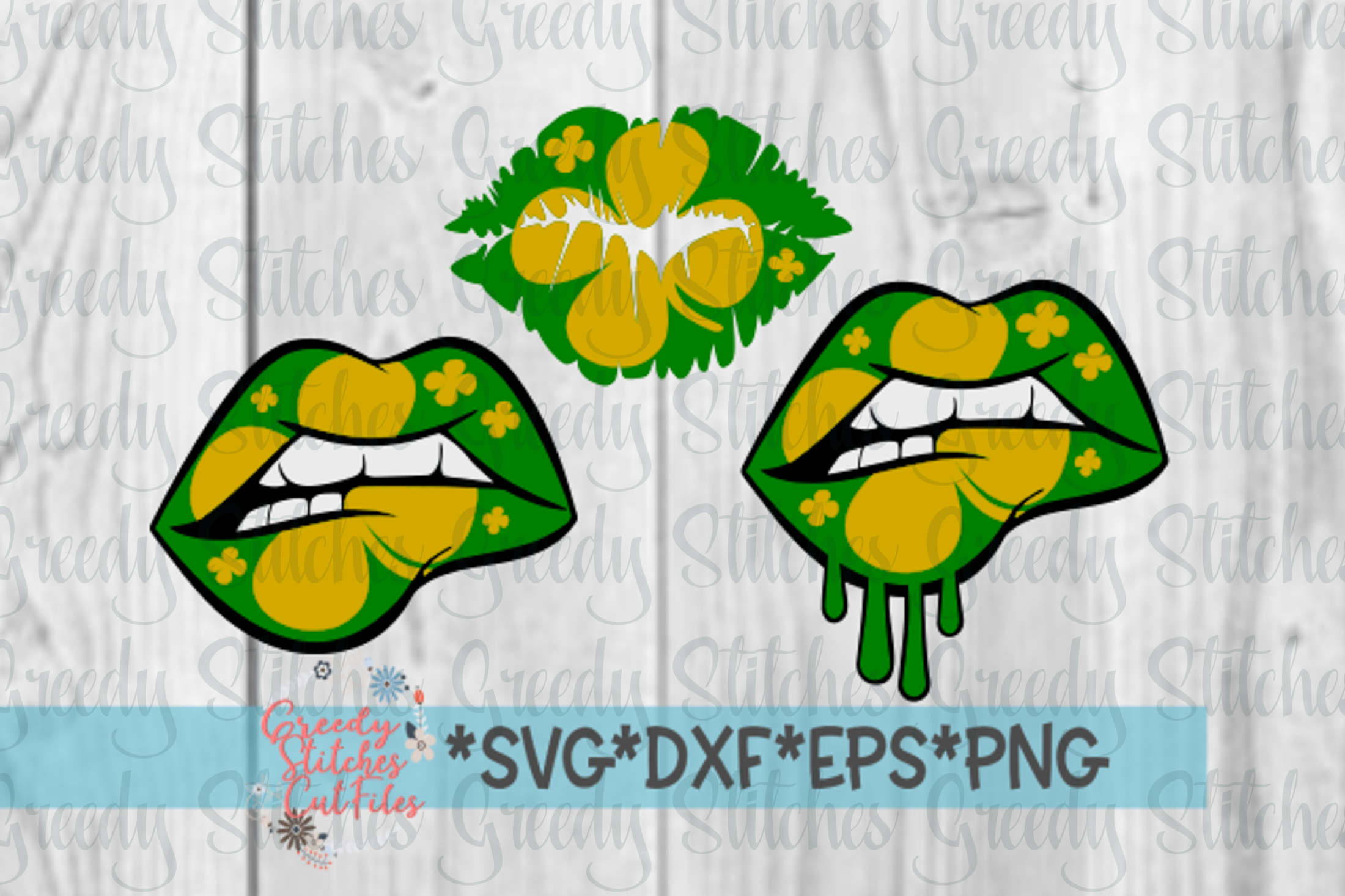 St Patrick's Day Lips SVG PNG DXF EPS example image 1
