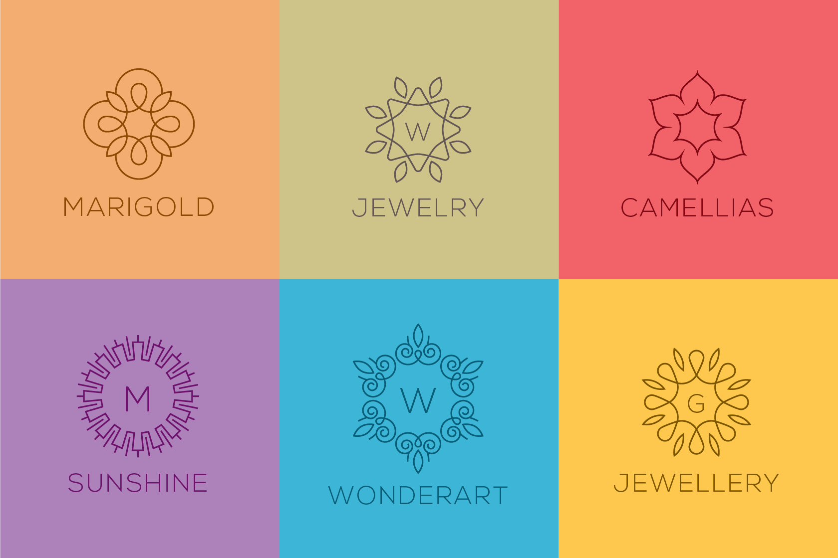 50 Luxury Linear Premade Logo Pack example image 3