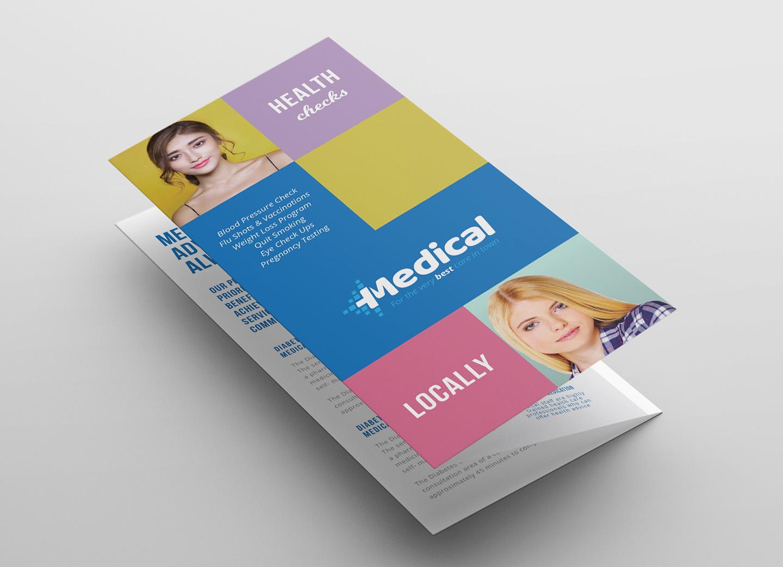 Modern Medical Tri-Fold Brochure Template example image 3
