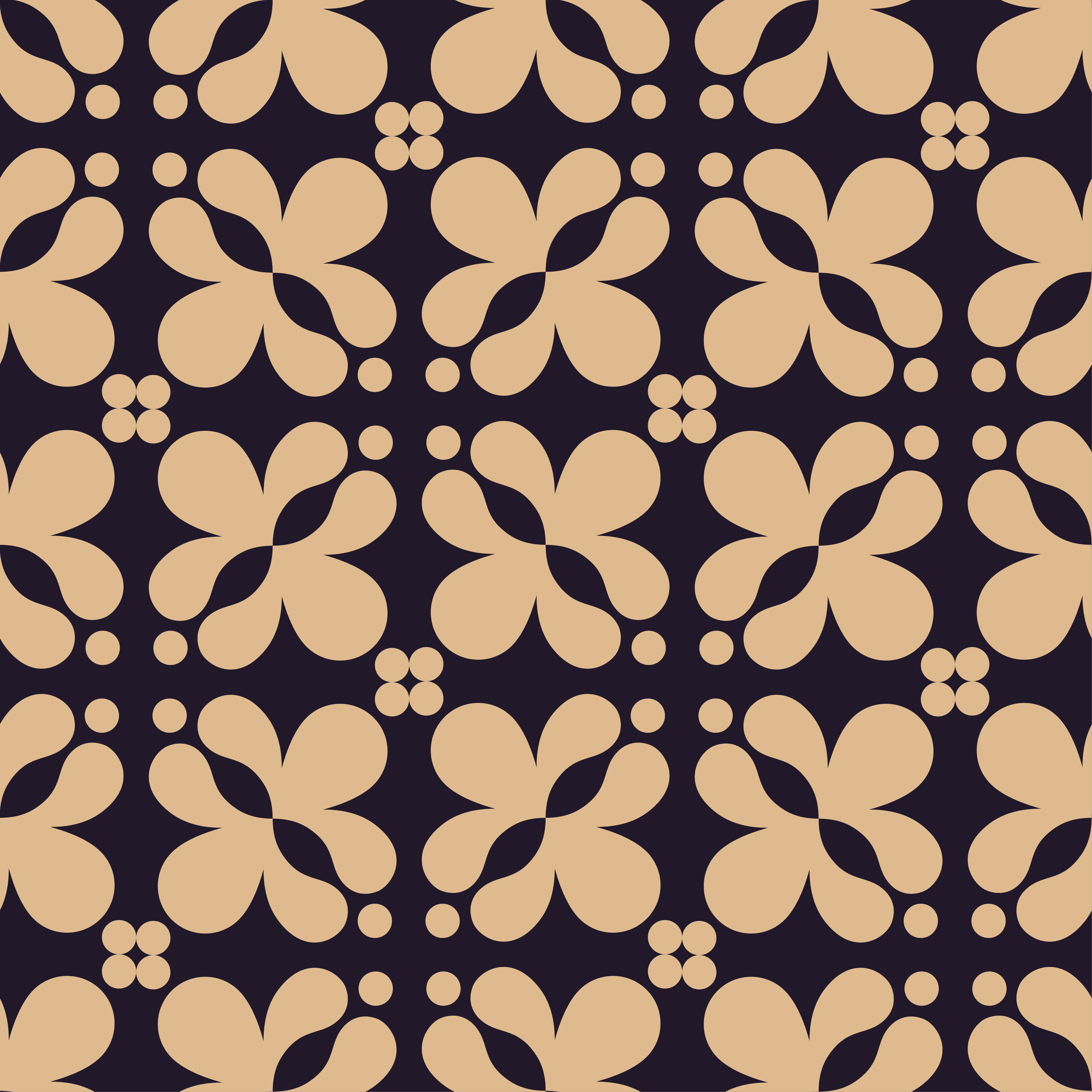 Seamless vector geometric Victorian pattern. Vector illustration.  example image 1