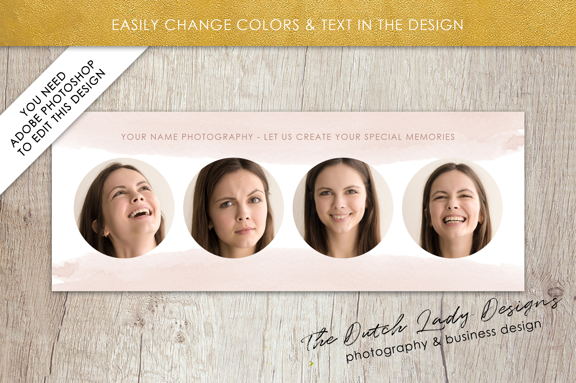Photography Facebook Cover Banner Template - Design #13 example image 3