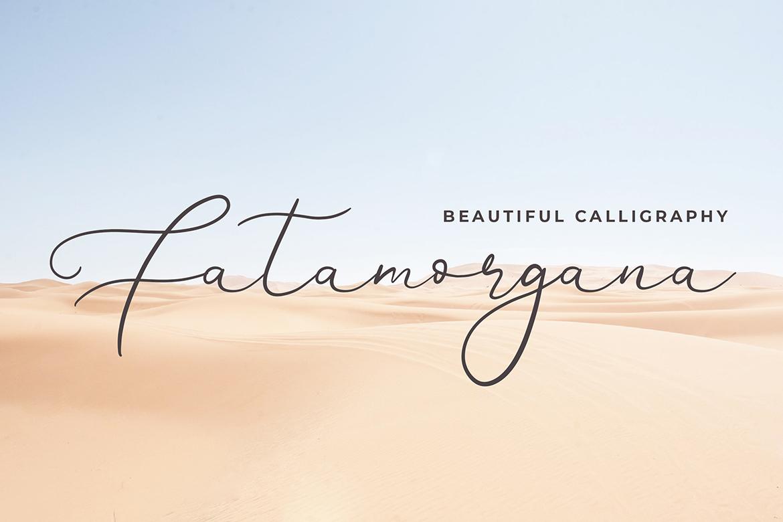 Brianna Qasim Calligraphy Font example image 4