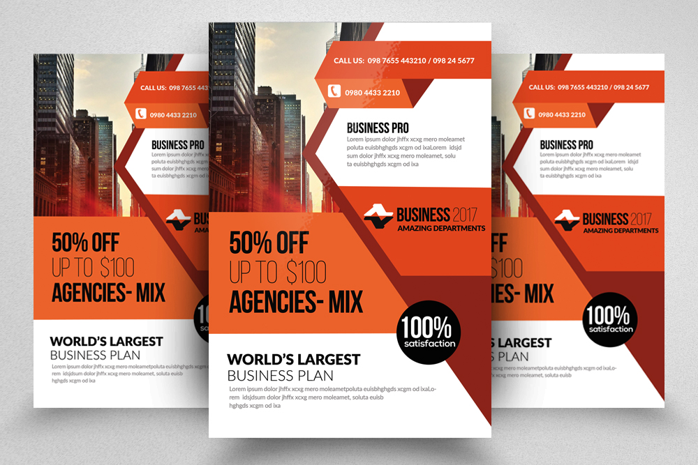 10 Corporate Psd Flyer Templates Bundle example image 7