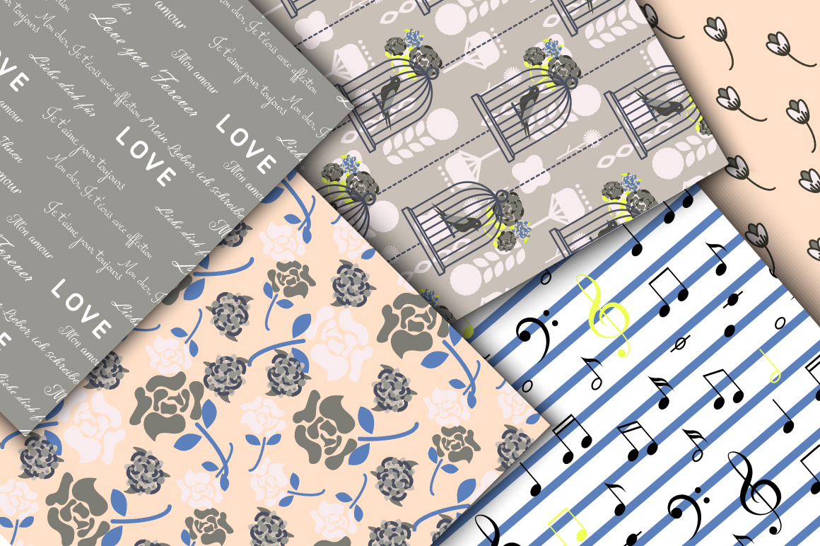 Love Letters Seamless Patterns example image 5