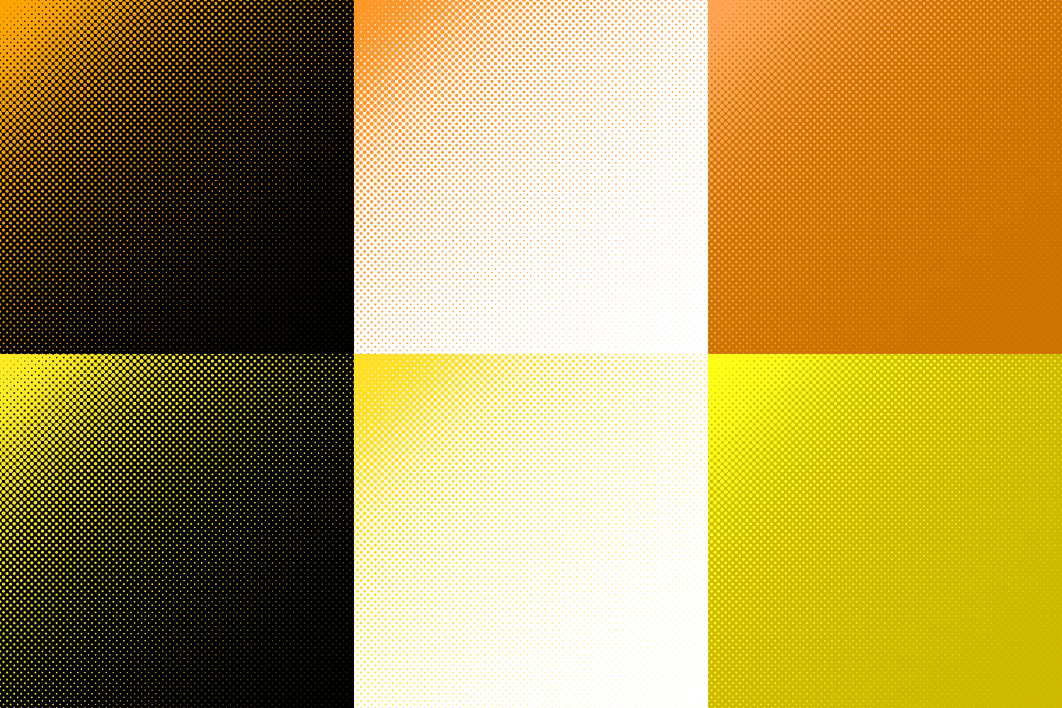 30 Halftone Circle Backgrounds (AI, EPS, JPG 5000x5000) example image 4