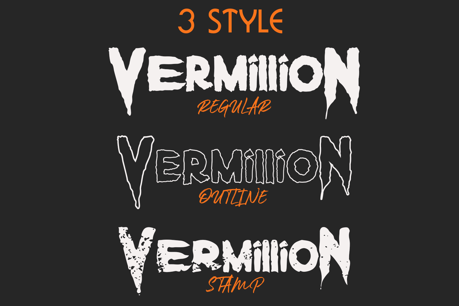 Vermillion Display Font example image 2