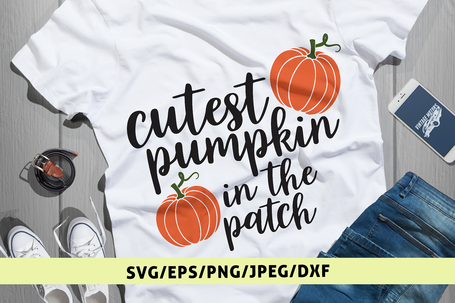 Cutest Pumpking In The Patch - Halloween SVG EPS DXF PNG example image 1