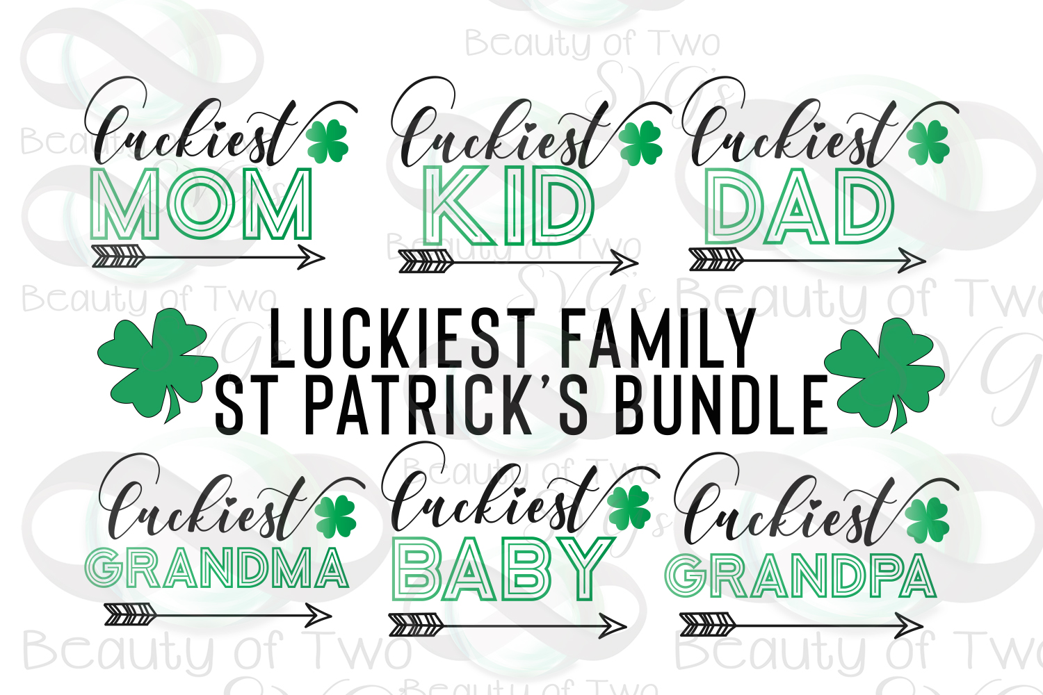 Luckiest Family St Patrick's Digital Sign Bundle example image 1