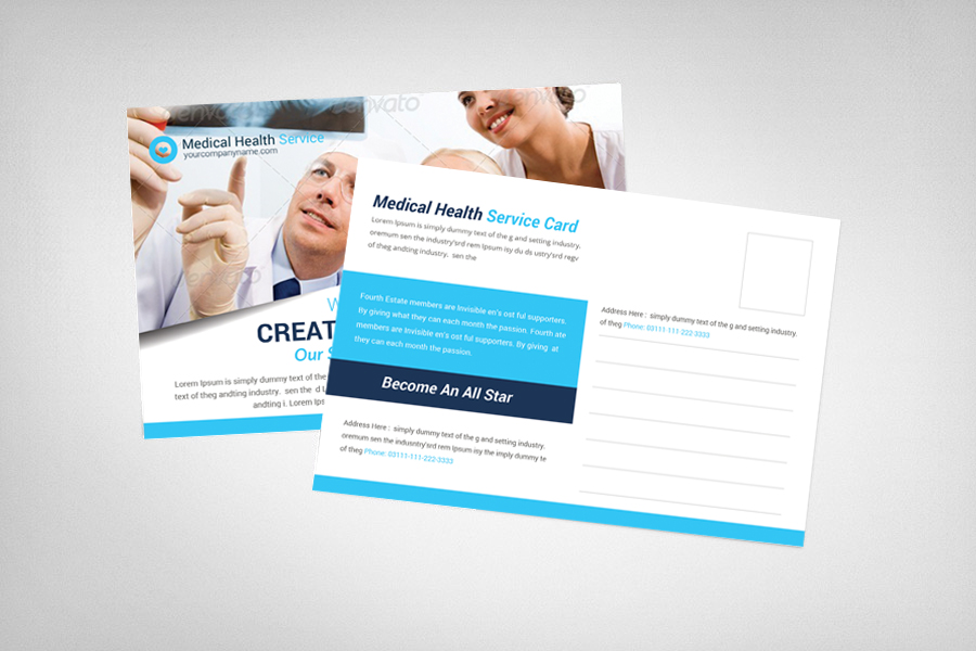 Medical Health Service Postcard Template example image 2