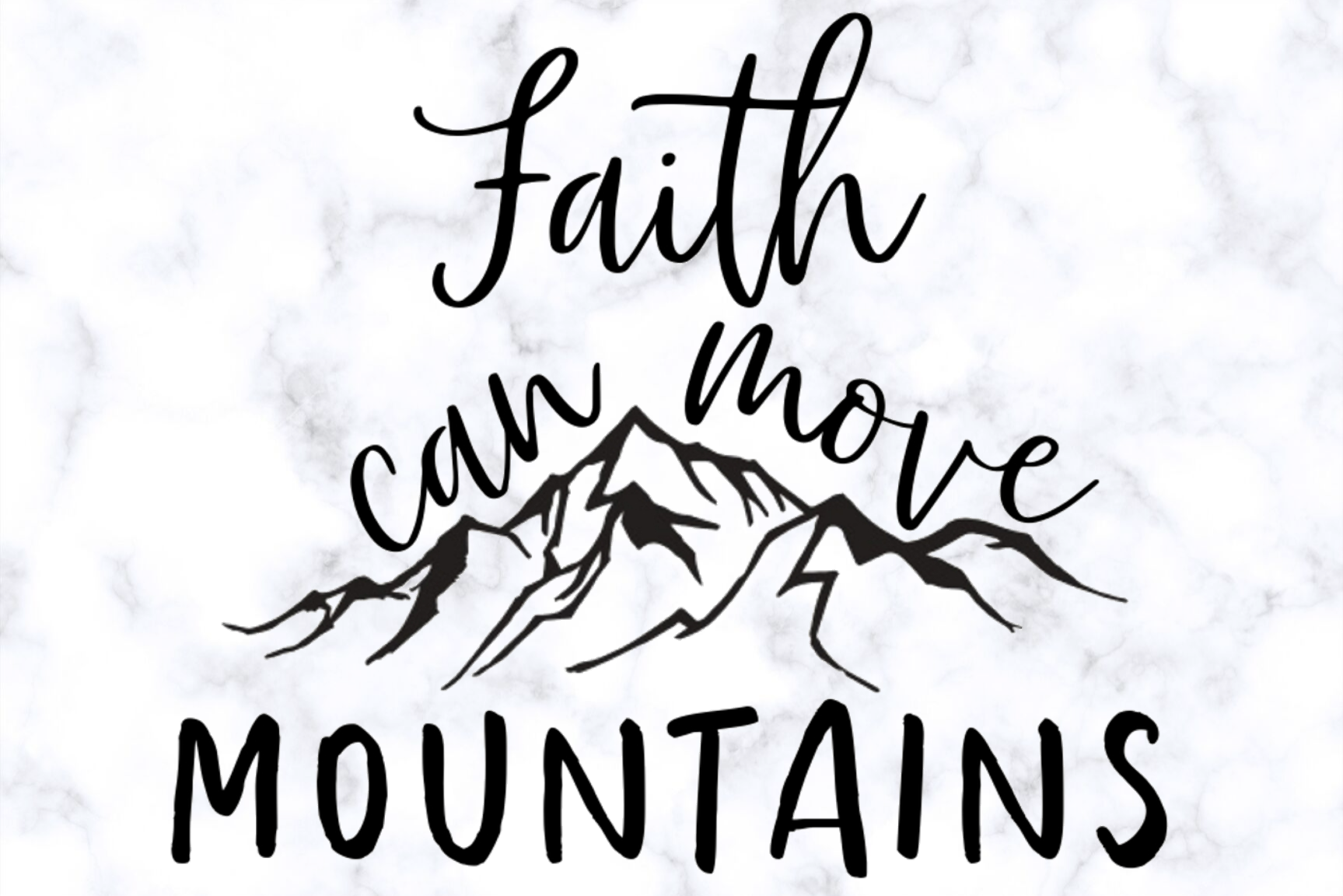 Faith Can Move Mountains  Christian SVG example image 1