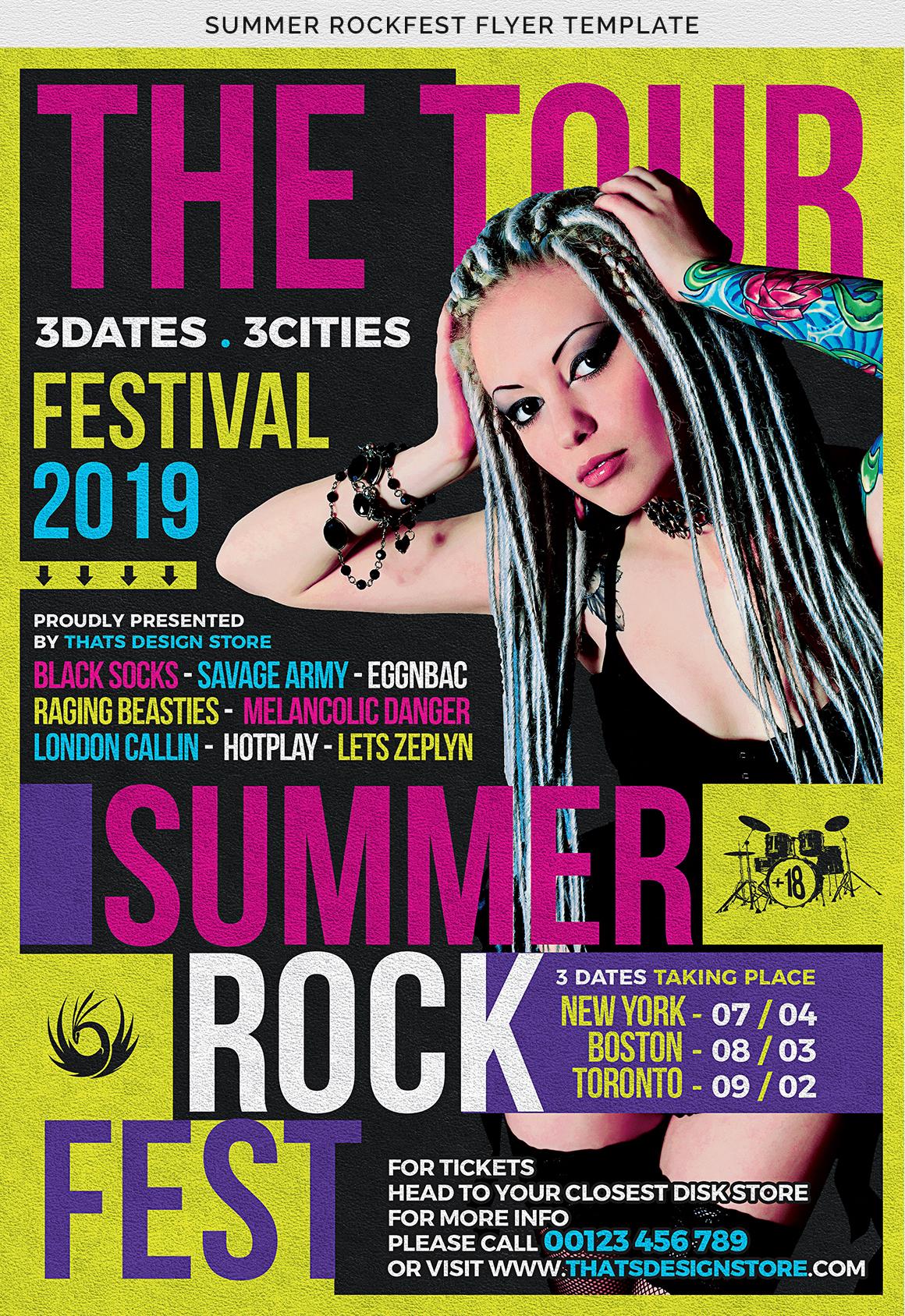 Summer Rockfest Flyer Template example image 7