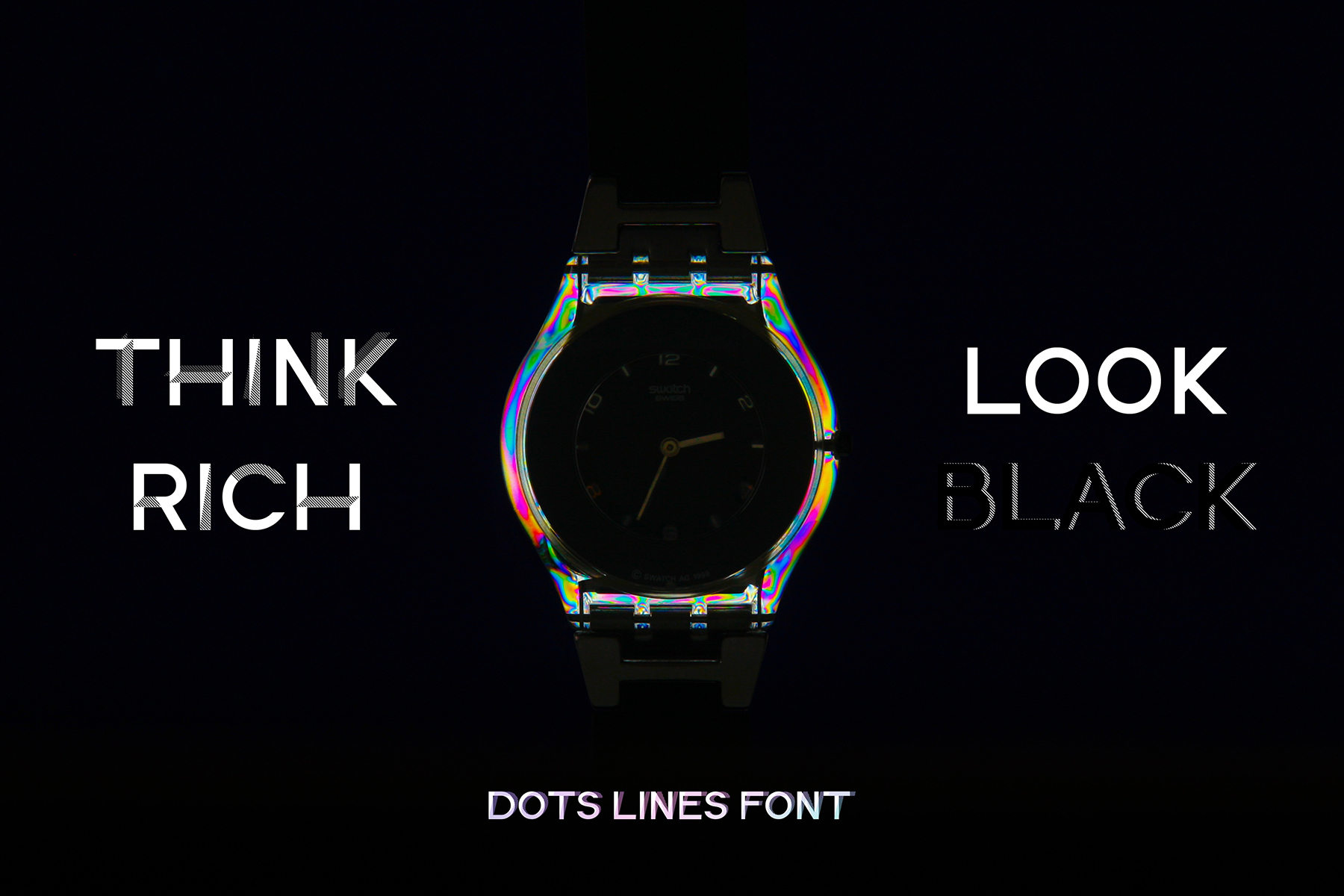 DOTS & LINES uppercase modern font example image 8