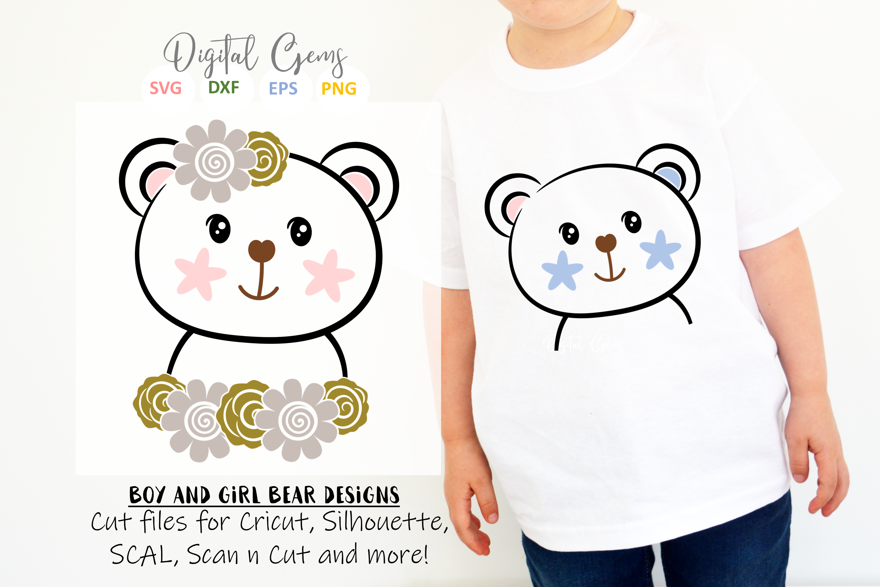 Bear designs. SVG / PNG / EPS / DXF Files example image 1