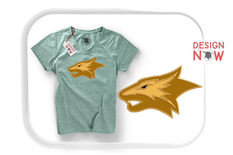 Tiger Applique Design, Tiger Embroidery Design, Wild Animals example image 1