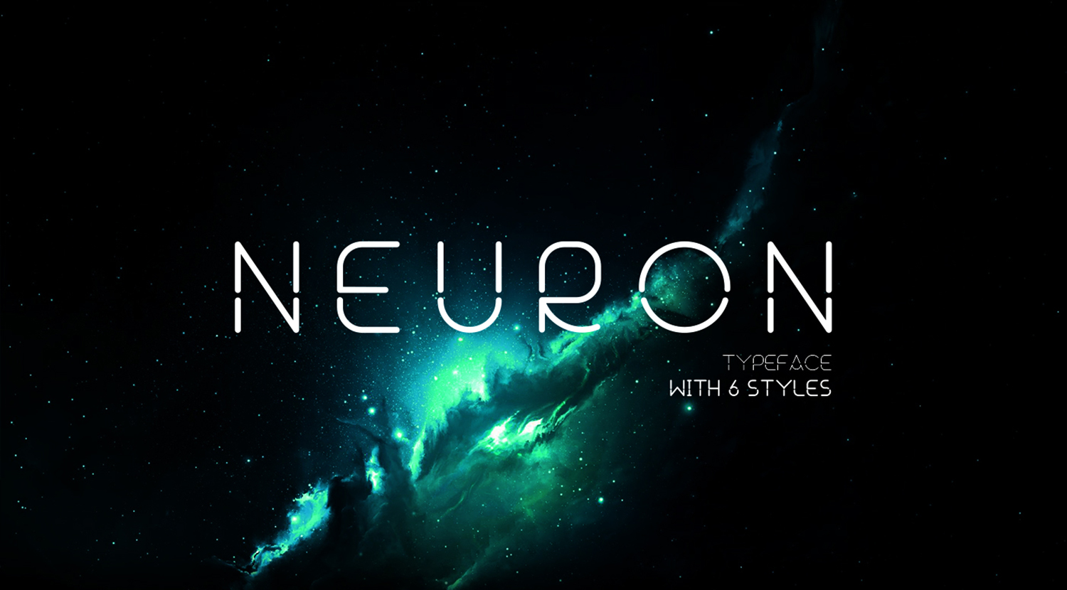 Neuron Spatial Typeface 6 Weights example image 1