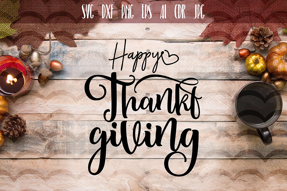 Funny Happy Thanksgiving day SVG example image 1