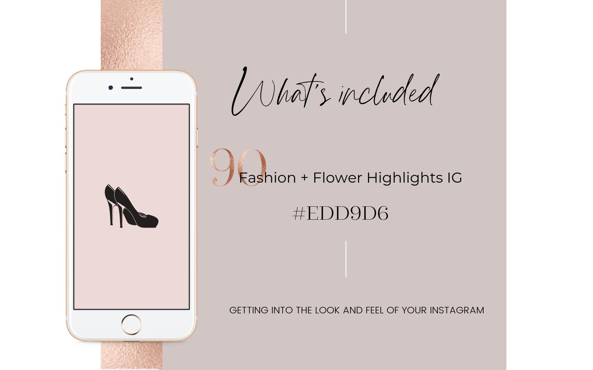 Feminine Highlights IG, Fashion Flower Highlights IG example image 2