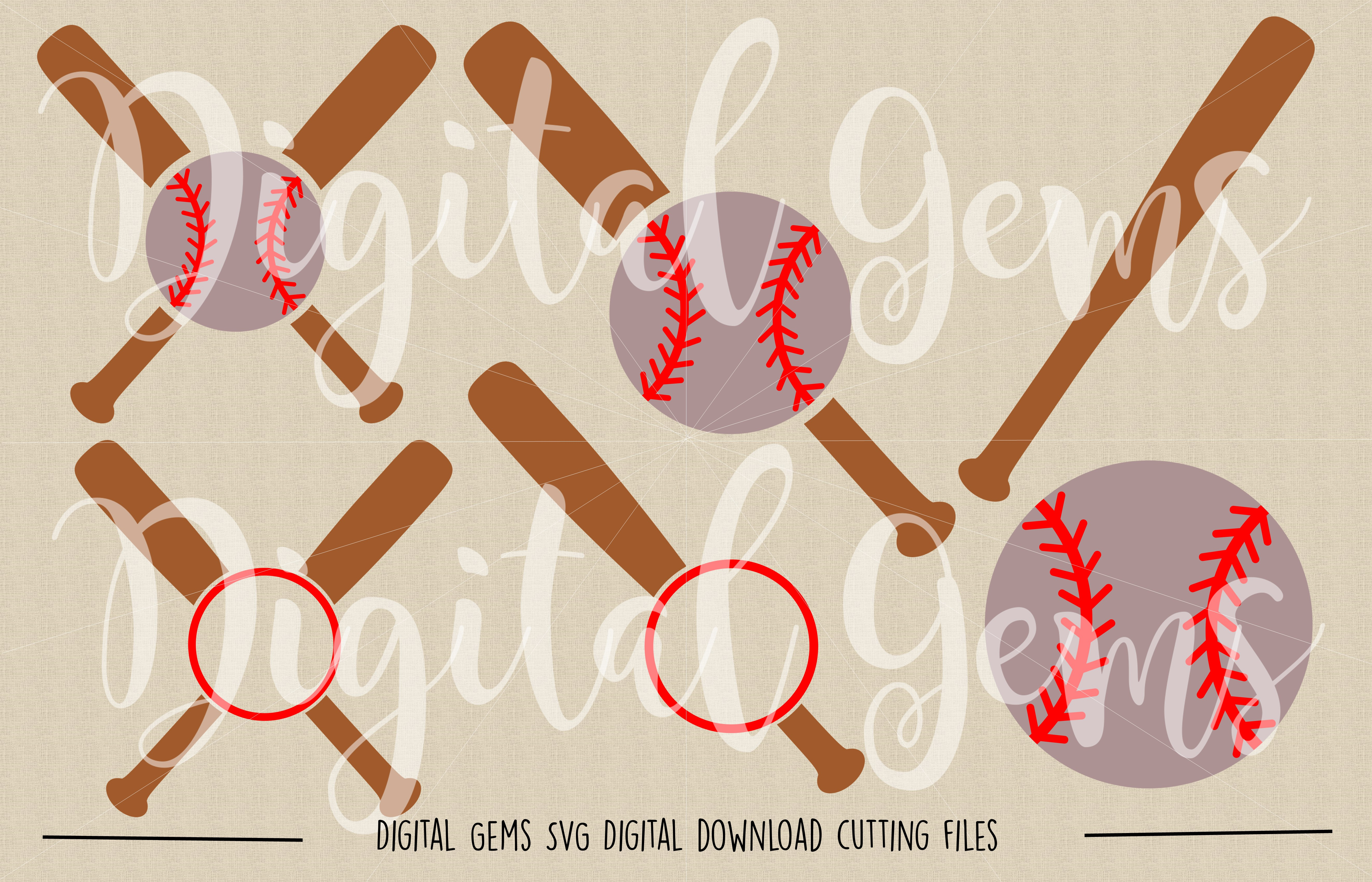 Baseball SVG / DXF / EPS / PNG files example image 2