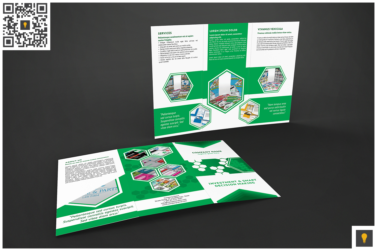 Corporate Hive Trifold Green