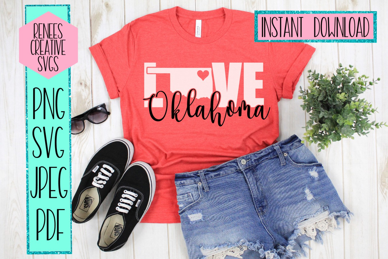Oklahoma Love | State SVG | SVG Cutting file example image 2