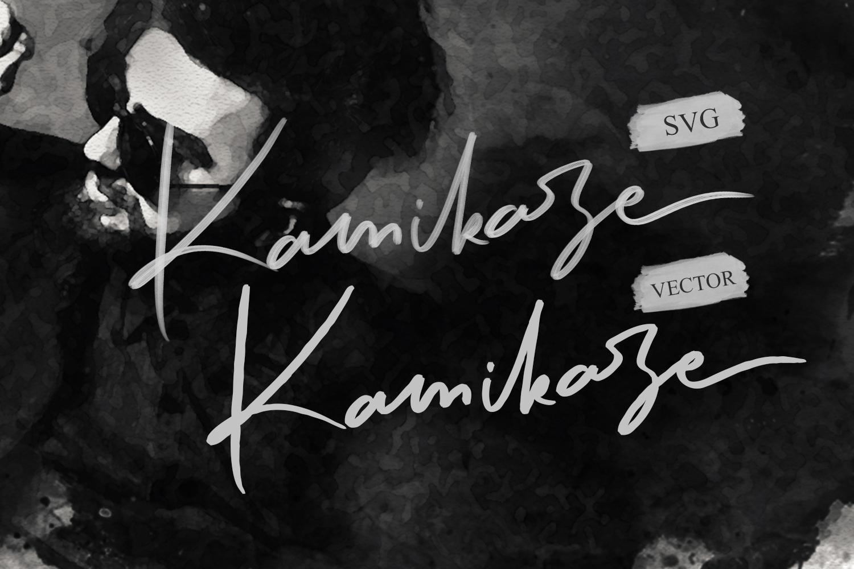 Kamikaze SVG Font example image 6