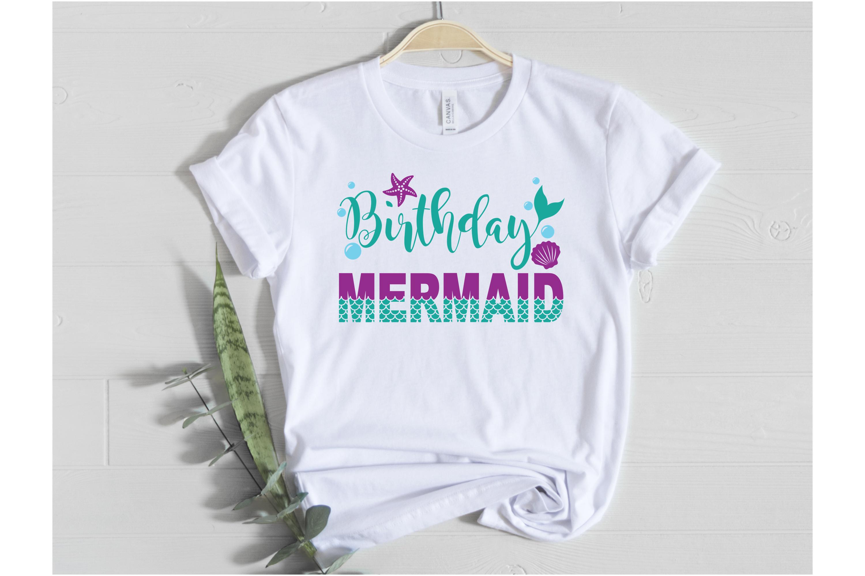 Birthday Mermaid SVG | Mermaid SVG | Mermaid Birthday Girl example image 2