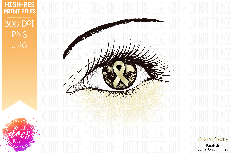 Cream Awareness Ribbon Eye - Printable Design example image 2