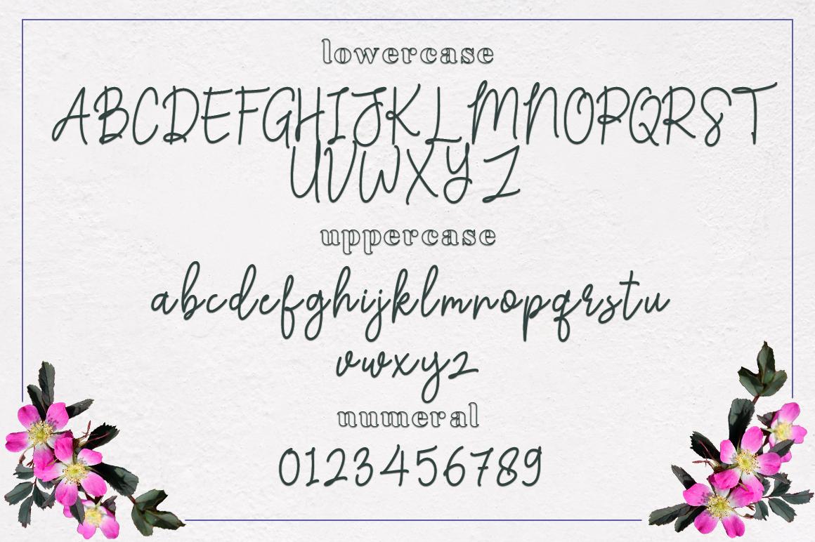 Achiela font family example image 9