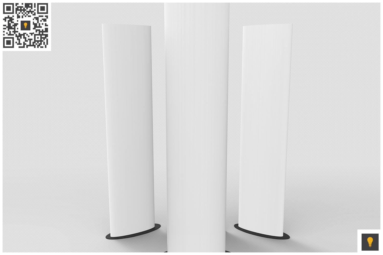 Elliptical Totem Display 3D Render example image 5
