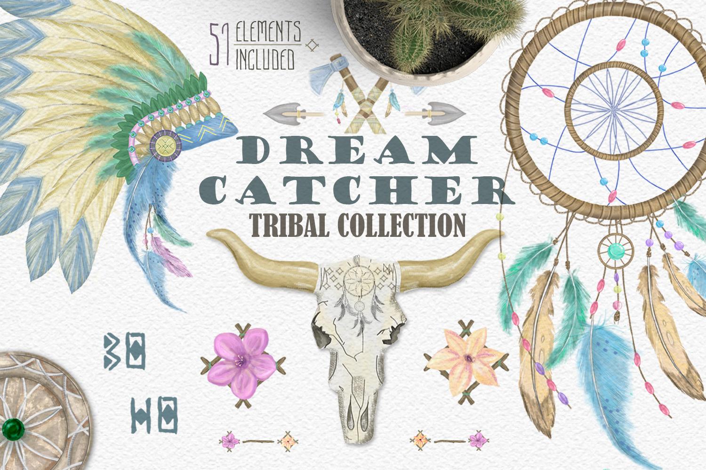 Dreamcatcher. Tribal Set example image 1