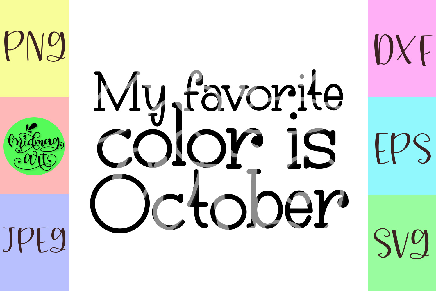 My favorite color is october svg, fall svg example image 2