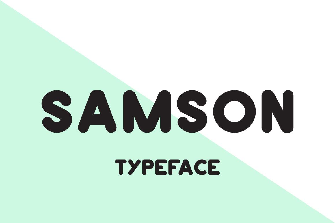 Samson Typeface  example image 1