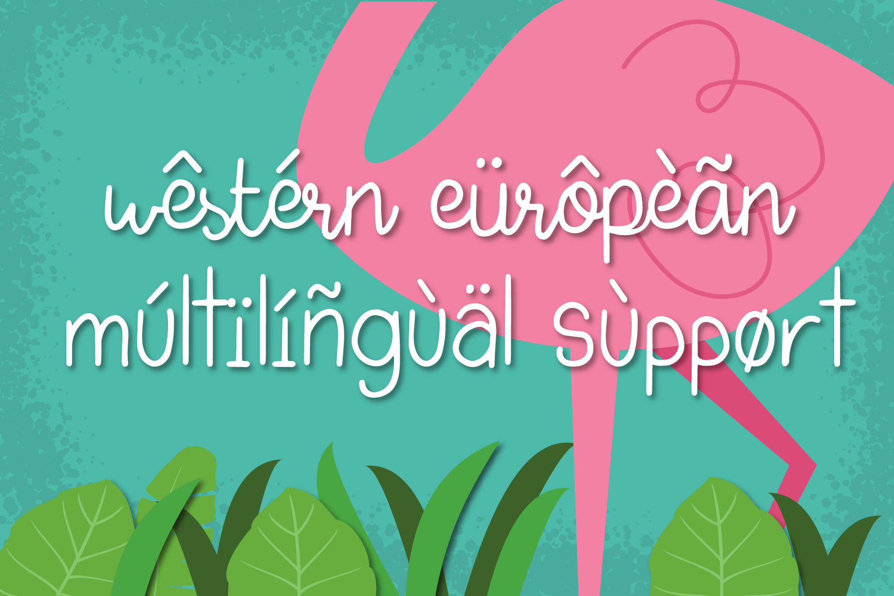 Tropical Flamingo Font Duo example image 4