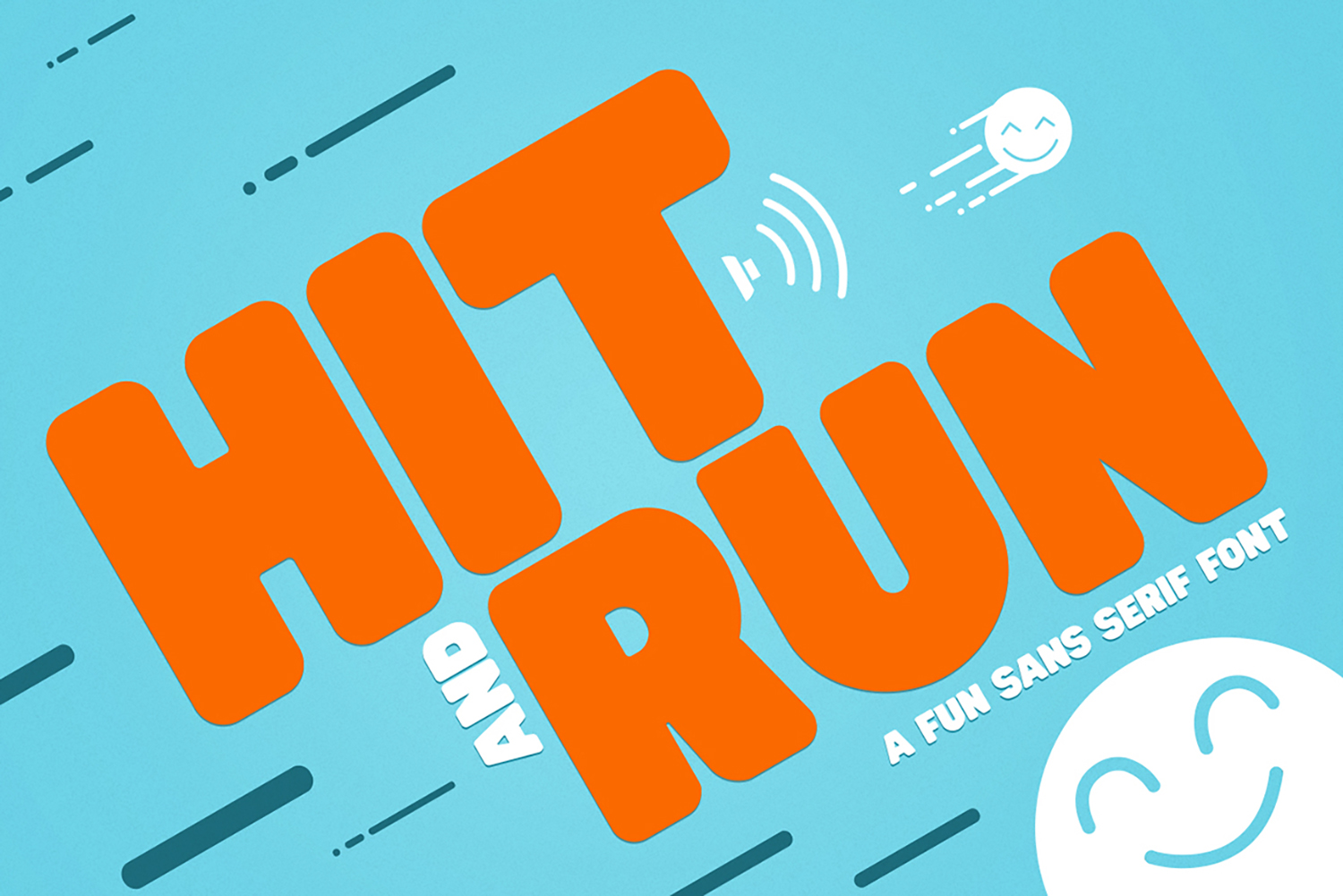 Hit and Run - Fun Sans Serif Font example image 1